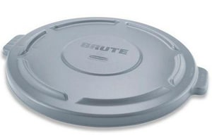 Rubbermaid Brute® 24-1/2 in. 44 gal Container Lid in Grey RFG264560GRAY at Pollardwater