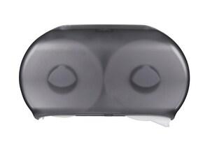 Westcraft Polystyrene Dual Roll JRT Dispenser in Translucent Black WC0120BLK