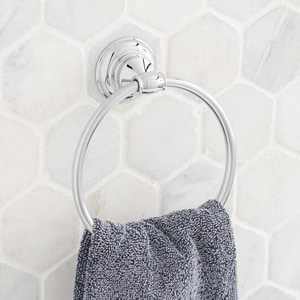Signature Hardware Beasley Round Closed Towel Ring in Polished Chrome SHBETRCP