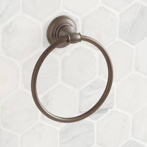 Signature Hardware Beasley Round Closed Towel Ring in Oil Rubbed Bronze SHBETRNORB