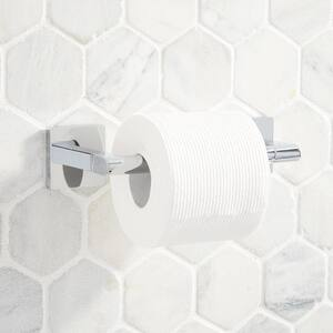 Signature Hardware Hibiscus Wall Mount Pivoting Toilet Paper Holder in Polished Chrome SHHBTHCP