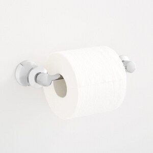 Signature Hardware Pendleton Wall Mount Toilet Tissue Holder in Polished Chrome SHPTTHCP