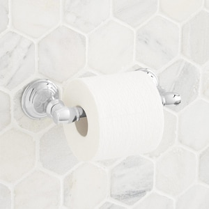 Signature Hardware Beasley Wall Mount Toilet Tissue Holder in Polished Chrome SHBETHCP