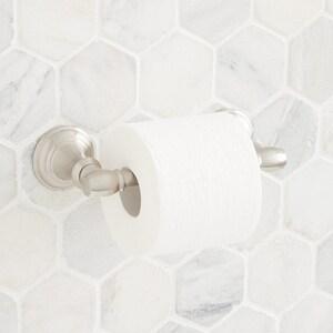 Signature Hardware Beasley Wall Mount Toilet Tissue Holder in Brushed Nickel SHBETHBN