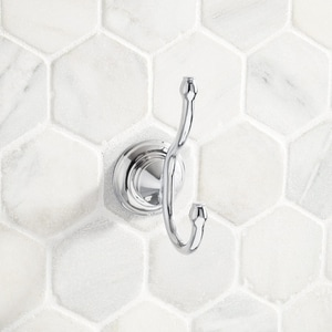 Signature Hardware Beasley 1 Robe Hook in Polished Chrome SHBERHCP