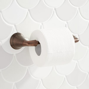 Signature Hardware Provincetown Wall Mount Toilet Tissue Holder in Oil Rubbed Bronze SHPRTHORB