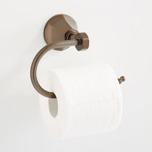 Signature Hardware Key West Wall Mount Toilet Tissue Holder in Oil Rubbed Bronze SHBRKWTHNORB