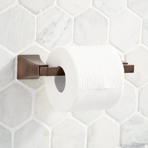Signature Hardware Vilamonte Wall Mount Toilet Tissue Holder in Oil Rubbed Bronze SHVLTHORB