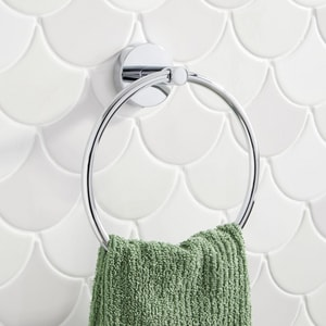Signature Hardware Edenton Round Closed Towel Ring in Polished Chrome SHMLEDTRCP