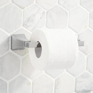 Signature Hardware Vilamonte Wall Mount Toilet Tissue Holder in Polished Chrome SHVLTHCP
