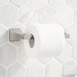 Signature Hardware Vilamonte Wall Mount Toilet Tissue Holder in Polished Nickel SHVLTHPN