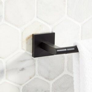Signature Hardware Hibiscus 32-1/8 in. Towel Bar in Matte Black SHHB30TBMB