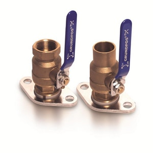 Grundfos 1/2 in. Bronze NPT Valve Kit G96806129