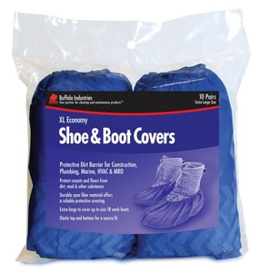 Buffalo Industries XL Size Fiber Shoe and Boot Cover (Pack of 10) BUF68401