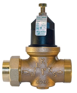 Zurn Wilkins Model NR3XL 3/4 in. 400 psi Cast Bronze and 300 Stainless Steel Double Union FNPT Pressure Reducing Valve WNR3XLDUCF