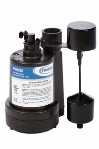 PROFLO® 1/4 hp Thermoplastic Automatic Sump Pump with Vertical Float Switch PF92260 at Pollardwater