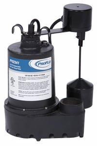 PROFLO® 3/10 HP Submersible Sump Pump with Vertical Float Switch and Side Discharge PF92341