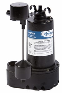 PROFLO® 1/3 HP Cast Iron Submersible Sump Pump Side Discharge PF92352 at Pollardwater