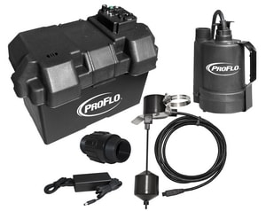 PROFLO® 12V Thermoplastic Battery Backup Pump Kit Only PF92910