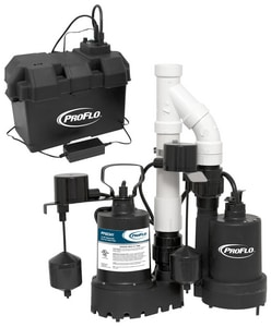 PROFLO® 12V 3/10 HP Battery Back Up Pump System With Pf92341 PF92941