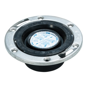 Water-Tite Techno 4 in. Closet Flange with Stainless Steel Ring & Techno Knockout I86178