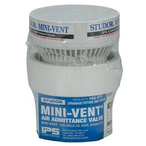 IPS Corporation Mini-Vent® 1-1/2 - 2 in. 160 dfu PVC Air Vent in White I20341