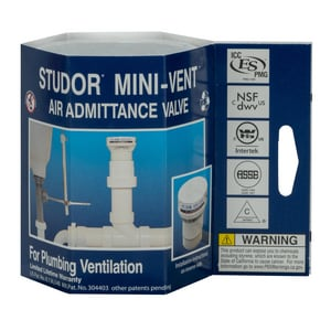 STUDOR® Mini-Vent® 1-1/2 - 2 in. 160 dfu PVC Air Vent in White I20305