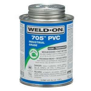 Weld-On® 705™ 8 oz Fast Set Plastic Clear Pipe Cement I10097