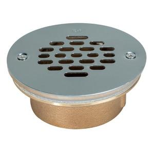 IPS Corporation 2 in. Inside Caulk Bronze/Brass Stainless Steel Shower Drain I67037