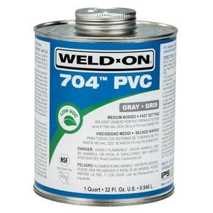 Weld-On® 704™ 1 qt Fast Set Plastic Grey Pipe Cement I12128