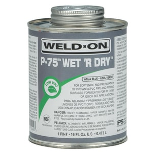 Weld-On® P-75™ Wet 'R Dry™ 19.2 oz PVC Blue Primer I10249