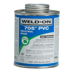 Weld-On® 705™ 16 oz Fast Set Plastic Clear Pipe Cement I10093