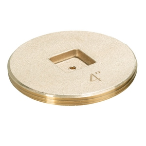 IPS Corporation 4 in. Countersunk Brass Tap Plug I69281