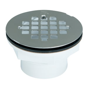 AB & A™ 3400 Series 2 in. Push On Plastic Stainless Steel Shower Drain I67018