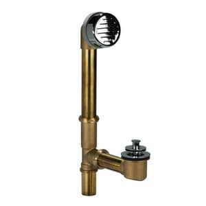 AB & A™ Classic 20 ga Waste and Overflow Drain with Push eN Lift Stopper in Chrome-Plated IPS61003