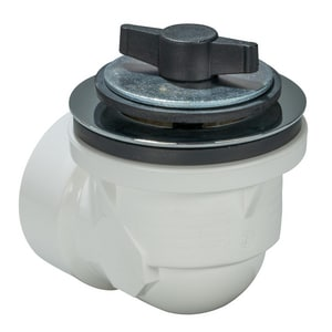 AB & A™ Classic PVC Half Kit Waste and Overflow Drain with Push eN Lift Stopper in Polished Chrome I62075