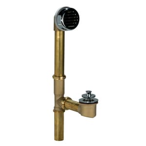 AB & A™ Classic 17 ga Waste and Overflow Drain with Push eN Lift Stopper in Chrome-Plated IPS61002
