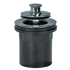 AB & A™ Classic PVC Half Kit Waste and Overflow Drain with Push eN Lift Stopper in Polished Chrome I62142