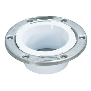 Water-Tite Flush Tite 3 x 4 in. Stainless Steel PVC Adjustable Closet Flange I86179