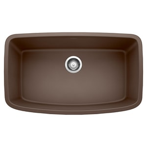 Blanco America Valea™ 32 x 19 in. No Hole Composite Single Bowl Undermount Kitchen Sink in Cafe Brown B441613