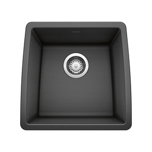 Blanco America Performa™ 17-1/2 x 17 x 9 in. Undermount Single Bowl Sink Anthracite B440079