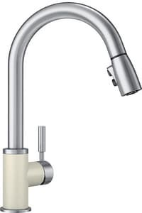 Blanco America Sonoma Single Handle Pull Down Kitchen Faucet in Biscuit/Stainless B442060