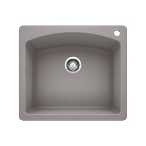 Blanco America Diamond™ 25 x 22 in. 1 Hole Composite Single Bowl Drop-in Kitchen Sink in Metallic Grey B440209