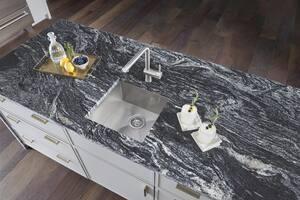 Blanco America Quatrus™ 17 x 17 in. Undermount Stainless Steel Bar Sink in Satin B518168