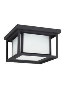 Generation Brands Hunnington 75W 2-Light Medium E-26 Incandescent Outdoor Ceiling Fixture in Black GL7903912