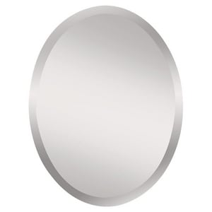 Feiss Infinity 28 x 22 in. Frameless Oval Mirror in Clear GLMR1151