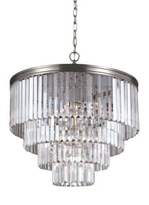 Generation Lighting Carondelet 100W 6-Light Medium E-26 Base Chandelier in Antique Brushed Nickel GL3114006965
