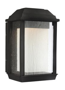 Generation Lighting McHenry 9W 1-Light Integrated LED Outdoor Wall Sconce in Textured Black GLOL12800TXBL1