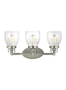 Generation Lighting Belton 60W 3-Light Vanity Fixture in Brushed Nickel GL4414503962