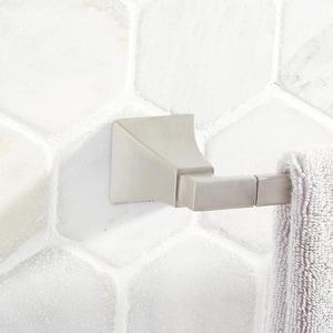 Signature Hardware Vilamonte 25-3/4 in. Towel Bar in Brushed Nickel SHVL24TBBN